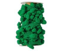 Papermania Create Christmas Pom Pom Trim Green (3m) (PMA 356923)