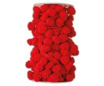 Papermania Create Christmas Pom Pom Trim Red (3m) (PMA 356922)