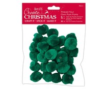 Papermania Create Christmas Thread Your Own Pom Poms Green (30pcs) (PMA 105961)