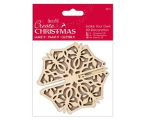 Papermania Create Christmas Make Your Own 3D Decoration Snowflake (PMA 105934)
