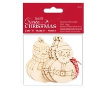 Papermania Create Christmas Festive Wooden Gift Tags (6pcs) (PMA 359930)