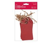 Papermania Create Christmas Tags Red (20pcs) (PMA 174303)