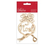Papermania Create Christmas Noel Wooden Tags (3pcs) (PMA 174341)