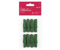Papermania Create Christmas Glitter Pegs Green (8pcs) (PMA 174927)