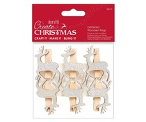 Papermania Create Christmas Glittered Wooden Pegs Stag (6pcs) (PMA 174951)