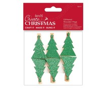 Papermania Create Christmas Glittered Wooden Pegs Tree (6pcs) (PMA 174950)