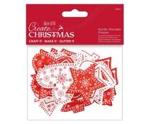 Papermania Create Christmas Nordic Wooden Shapes (24pcs) (PMA 174956)