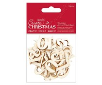 Papermania Create Christmas Wooden Advent Numbers (25pcs) (PMA 359929)