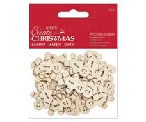 Papermania Create Christmas Wooden Shapes Mini Gingerbread Men Natural (30pcs) (PMA 174580)
