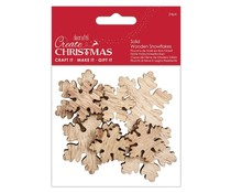 Papermania Create Christmas Solid Wooden Snowflakes (24pcs) (PMA 174594)