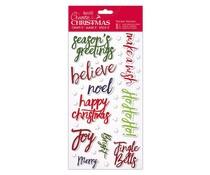 Papermania Create Christmas Thicker Stickers Christmas Words (PMA 351807)