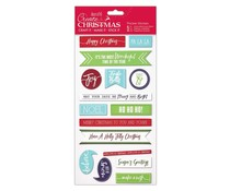 Papermania Create Christmas Thicker Stickers Christmas Sentiments (PMA 351808)