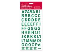 Papermania Create Christmas Thicker Stickers Christmas Alphabet Green Glitter (PMA 351803)