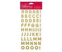 Papermania Create Christmas Thicker Stickers Christmas Alphabet Gold Glitter (PMA 351802)