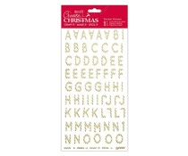 Papermania Create Christmas Thicker Stickers Christmas Alphabet Gold Candy Stripe (PMA 351800)