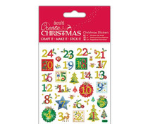 Papermania Create Christmas Stickers Holly Advent Numbers (PMA 804917)