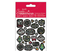 Papermania Create Christmas Stickers Chalkboard Sentiments (PMA 804926)