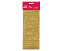 Papermania Create Christmas Outline Stickers Traditional Xmas Relations Gold (PMA 810908)