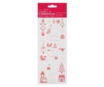 Papermania Create Christmas Shiny Outline Stickers Festive Houses (PMA 810936)