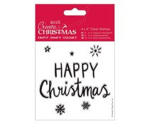 Papermania Create Christmas Clear Stamps Happy Christmas (PMA 907253)
