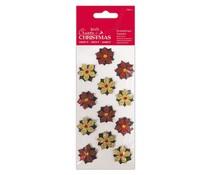 Papermania Create Christmas Embellished Toppers Poinsettias (12pcs) (PMA 359906)