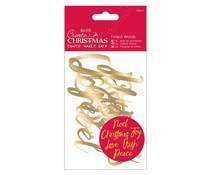 Papermania Create Christmas Foiled Words Gold (12pcs) (PMA 157959)