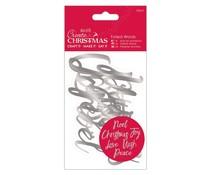 Papermania Create Christmas Foiled Words Silver (12pcs) (PMA 157960)