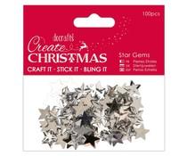 Papermania Create Christmas Star Gems Silver (100pcs) (PMA 351910)