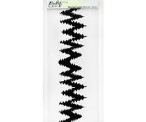 Picket Fence Studios Slim Line Double Tree Line 4x10 Inch Stencil (SC-258)