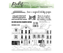 Picket Fence Studios Winter Has Come to Town 6x6 Inch Clear Stamps (C-125)