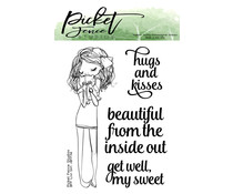 Picket Fence Studios BFF Livi Girl 3x4 Inch Clear Stamps (BFF-114)