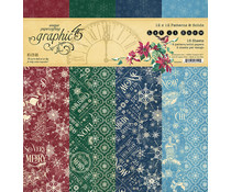 Graphic 45 Let it Snow 12x12 Inch Patterns & Solids Paper Pad (4502324)