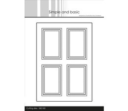 Simple and Basic A6 Card Front #4 Cutting Dies (SBD183)