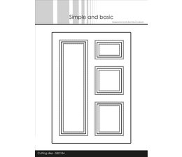 Simple and Basic A6 Card Front #5 Cutting Dies (SBD184)