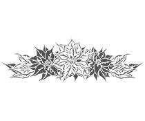 The Crafter's Workshop Poinsettia Spray 16½x6 Inch Stencil (TCW2426)