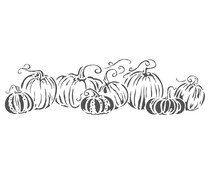 The Crafter's Workshop Pumpkins in a Row 16½x6 Inch Stencil (TCW2425)