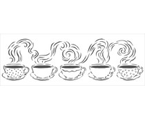 The Crafter's Workshop Steamy Cups 16½x6 Inch Stencil (TCW2438)