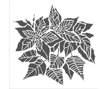 The Crafter's Workshop Poinsettia 6x6 Inch Stencil (TCW952s)