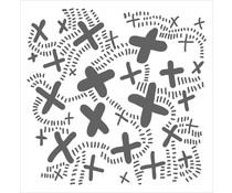 The Crafter's Workshop X Trail 12x12 Inch Stencil (TCW940)
