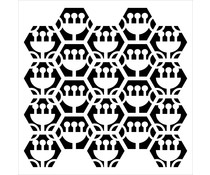 The Crafter's Workshop Tulip Hexagons 12x12 Inch Stencil (TCW942)