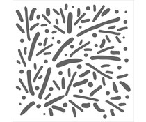 The Crafter's Workshop Scattered Branches 12x12 Inch Stencil (TCW939)