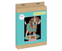 Simply Make Sequin Art Kit Dog in a Jumper (DSM 105154)