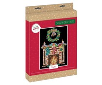 Simply Make Sequin Art Kit Christmas Fireplace (DSM 105156)