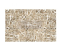 Re-Design with Prima Engraved Numbers 19,5x30 Inch Tissue Paper (655747)