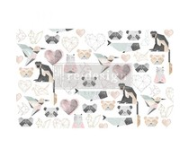 Re-Design with Prima Origami Love 19,5x30 Inch Tissue Paper (655723)
