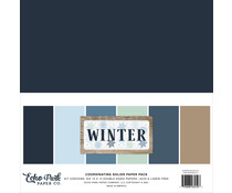 Echo Park Winter 12x12 Inch Coordinating Solids Paper Pack (WTR257015)