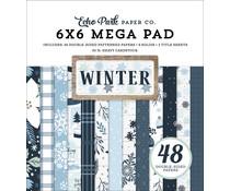 Echo Park Winter 6x6 Inch Cardmakers Mega Pad (WTR257031)