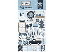 Echo Park Winter Puffy Stickers (WTR257066)