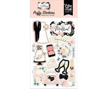 Echo Park Wedding Puffy Stickers (WED258066)