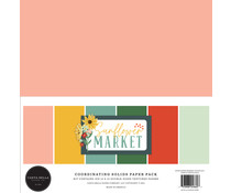 Carta Bella Sunflower Market 12x12 Inch Coordinating Solids Paper Pack (CBSUN144015)